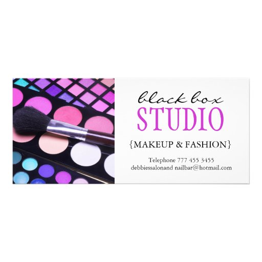 Makeup and Fashion Gift Certificate Rack Card
