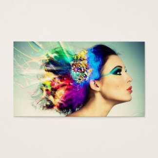 Makeup and Hair Design Business Card