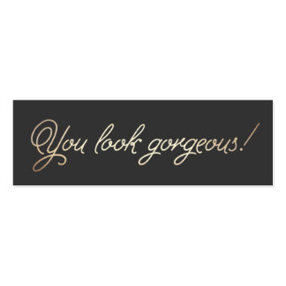 Makeup and Hair Stylist Gold Typographic Beauty Pack Of Skinny Business Cards