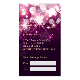 Makeup Appointment Card - Pink Glitter Sparkles Pack Of Standard Business Cards