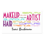 Makeup Artist and Hair Stylist Business Cards