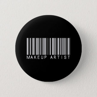 Makeup Artist Bar Code 6 Cm Round Badge