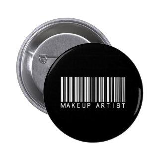 Makeup Artist Bar Code 6 Cm Round Badge
