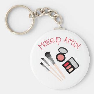 Makeup Artist Basic Round Button Key Ring