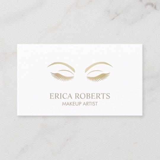 Makeup Artist Beauty Girl Plain Minimalist Business Card