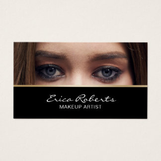Makeup Artist Beauty Salon Custom Photo Business Card