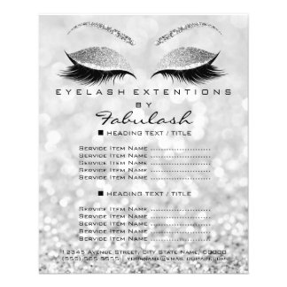 Makeup Artist Beauty Salon Glitter Flyer Silver1