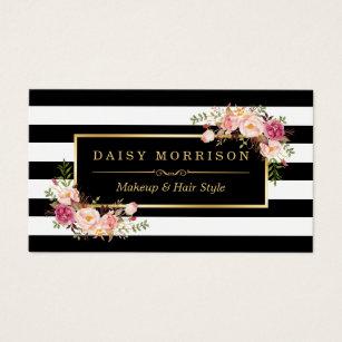 Beauty business cards zazzle uk makeup artist beauty salon gold vintage floral business card colourmoves Image collections