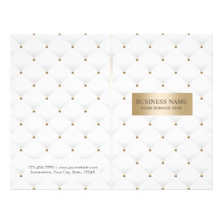 Makeup Artist Beauty Salon Luxury Quilted Bi-Fold Flyer