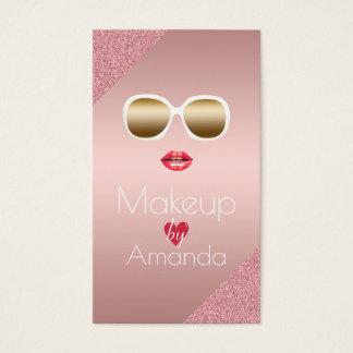 Makeup Artist Beauty Salon Modern Foil Rose Gold Business Card