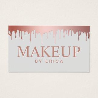 Makeup Artist Beauty Salon Rose Gold Drips