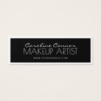 Makeup Artist Black & White Bordered Card
