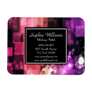 Makeup Artist Bokeh Shiny Pink Lights Magnet