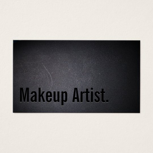 Makeup Artist Bold Text Elegant Dark Business Card