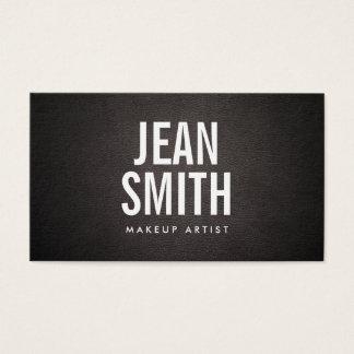 Makeup Artist Bold Text Elegant Dark Leather