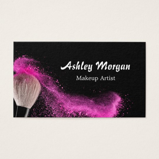 Makeup Artist Brush Powder Fashionable Black White Business