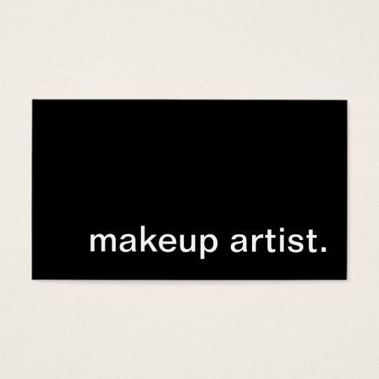 makeup artist. business card