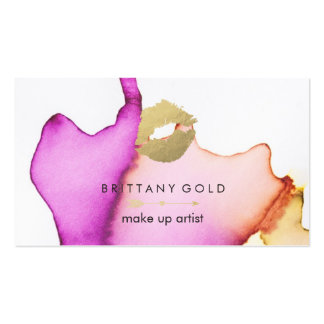 Makeup Artist Business Card - Chic Watercolor