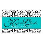 Makeup Artist Business Card Damask Blue