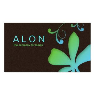 Makeup Artist Business Card Flower Blue Green