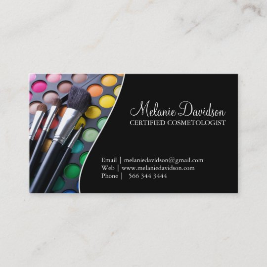 Makeup artist business card template zazzle makeup artist business card template flashek Image collections