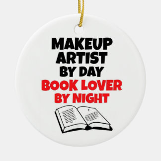 Makeup Artist by Day Book Lover by Night Christmas Ornament