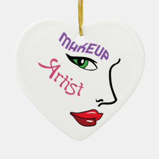 Makeup Artist Ceramic Heart Decoration