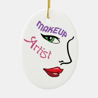 Makeup Artist Ceramic Oval Decoration