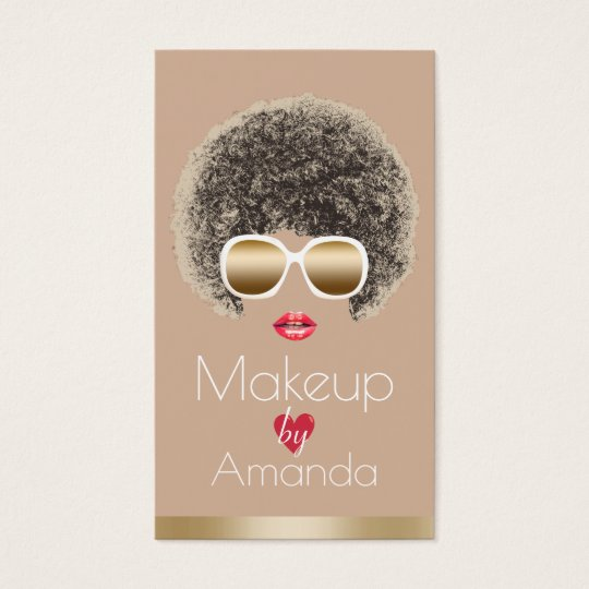 Makeup Artist Chic Beauty in Sunglasses Modern Business Card