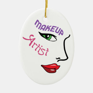 Makeup Artist Christmas Ornament
