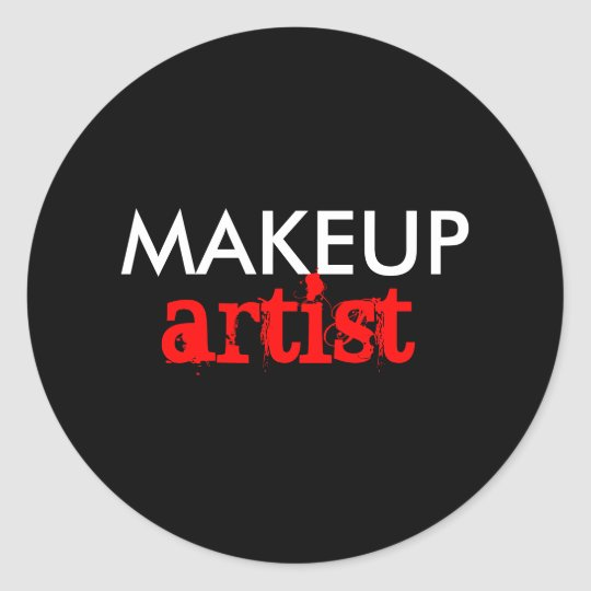 Makeup artist classic round sticker