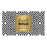 Makeup Artist - Classy Gold Abstract Pattern Pack Of Standard Business Cards
