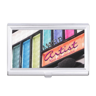 Makeup Artist Colorful Eyeshadow Palette Business Card Holder