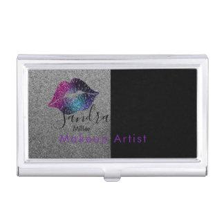 Makeup Artist Colourful Lips- Business card case