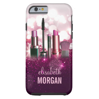 Makeup Artist Cosmetician - Pink Beauty Glitter Tough iPhone 6 Case