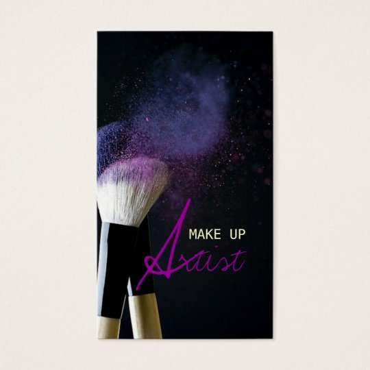 MakeUp Artist , Cosmetologist, Beauty, Salon Business Card