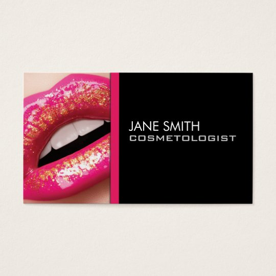 Makeup Artist Cosmetologist Cosmetology Groupon Business Card