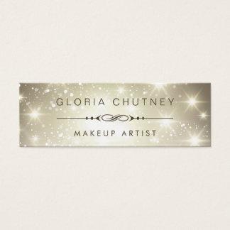 Makeup Artist - Dazzle Sparkling Bokeh Glitter Mini Business Card