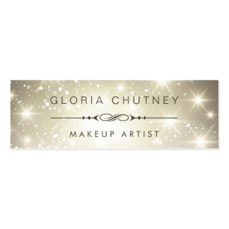 Makeup Artist - Dazzle Sparkling Bokeh Glitter Pack Of Skinny Business Cards