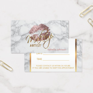Makeup Artist Dusty Rose Appointment Business Card