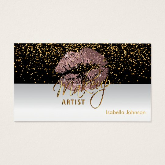 Makeup Artist dusty Rose Glitter Appointment 2 Business