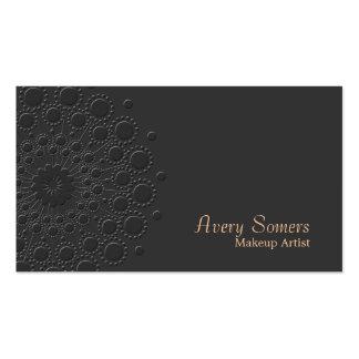 Makeup Artist Elegant Faux Embossed Rosette Black Pack Of Standard Business Cards