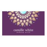 Makeup Artist  Elegant Gold Ornate Motif Purple Pack Of Standard Business Cards