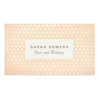 Makeup Artist Elegant Light Pink Pattern Business Card