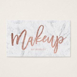 Makeup artist elegant rose gold typography marble