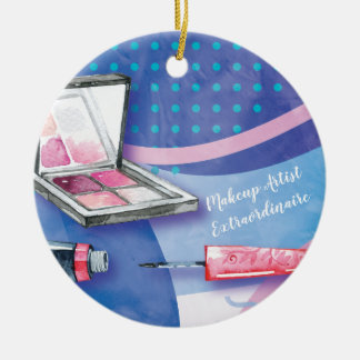 Makeup Artist  Extraordinaire Beauty Stylist Christmas Ornament