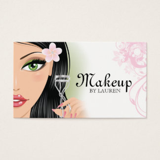 Makeup Artist Eyelash Curler Pink Business Card