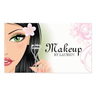 Makeup Artist Eyelash Curler Pink Business Cards