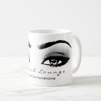 Makeup Artist Eyelash Extension Studio Gray Eye Coffee Mug