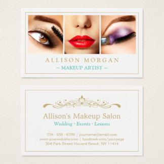 Makeup Artist Eyelashes Lips Eyeshadow Photos Business Card